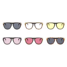 lunettes de rabat Promotion Peut Flip lunettes Coloré Ultraviolet Proof Lunettes de Soleil Costume Beaucoup Visage Punk Mode Style Lunettes de Soleil Pour Hommes Et Femmes 14ls Z