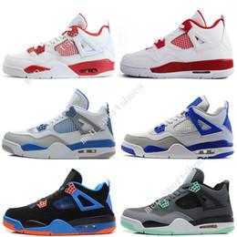 official photos 32299 6fb96 Günstige Neue 4 4s Männer Basketball-Schuhe Motosports Blue Oreo Eminem Weißer  Zement Pure Money Toro Bravo brachte alternative 89 Sport Sneakers Designer