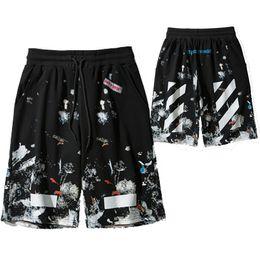 Wholesale flat black clothing - Top quality Luxury shorts black print High fashion clothing black 2XL 18013