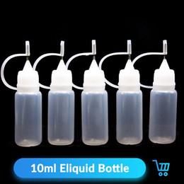сок жидкого испарителя Скидка E жидкая бутылка 10 мл Пластиковые бутылочки с капюшоном с капюшоном Капсульная бутылка Vape Juice Электронные сигареты Аксессуары для испарителя