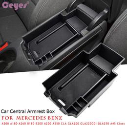 Zentrale Armlehne Aufbewahrungsbox für Mercedes Benz CLA GLA W176 A B Klasse A180 W246 / B180 2011-14 Container Tray Organizer Car Styling von Fabrikanten