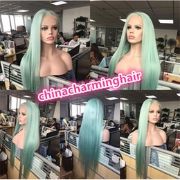Wholesale indian remy straight hair styles - New style colored Full Lace Human Hair Wig 100% Brazilian Remy Hair Wigs straight color lace front wig