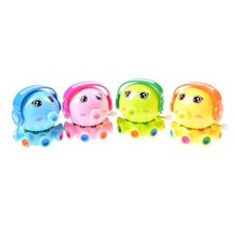 Wholesale Plastic Octopus Toy - Wholesale- Mini Octopus Wind Up Toy Clockwork Toy Kids Baby Developmental Educational Intelligence Infant Rotation Cartoon Lovely Baby Gift