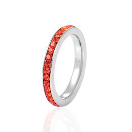 Glückliche kristalle steine online-Glücksstein Frauen Ringe Hohe Qualität Edelstahl Ring Mit 12 Farbe Birthstone Kristalle Ring Für Mädchen