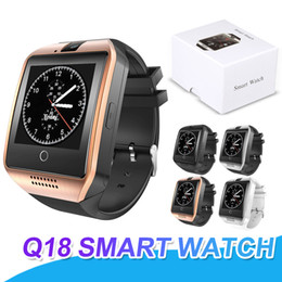 Wholesale connect bluetooth - Q18 Bluetooth Smart Watch Sweatproof Phone Support SIM Card Camera NFC Connect Fitness Tracker SmartWatch For Android With Retail Package