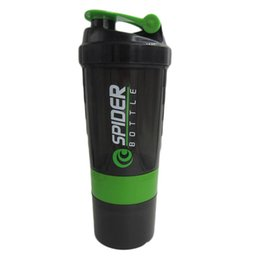 Wholesale Ps Sales - Wholesale- Hot sales! New Spider protein shaker 3 in 1 Sports water bottle with inserted mixing ball 4 Color 500ml
