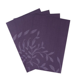 Wholesale Runner Accessories - Wholesale- Set of 4 PVC Flower Pattern Placemats for Dining Table Runner Linens place mat in Kitchen Accessories Cup Wine mat