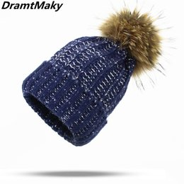 real fox hats Coupons - Mohair style winter hat real mink fox fur ball cap pompom winter hat for women girl 's knitted beanies cap brand female