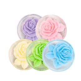 rose blume seife handgefertigt Rabatt Natürliche Rose Blumen Ätherisches Öl handgemachte Seife Gesichtspflege Oil Control Gesichtsreinigung Seifen Hautpflege