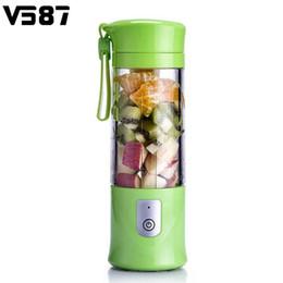 Wholesale vegetable juice maker - 420ml Electrical Smoothie Blender Fruit Juicer Maker Handheld Juice Cup Usb Powered Fruits Vegetables Reamer Intelligence