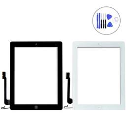 ipad air parts Rebajas Pieza de repuesto del digitalizador de pantalla táctil de cristal con marco para iPad 2 3 4 5th Air Mini 2 3 4 Pro Gen