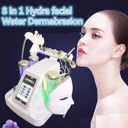 Wholesale Cold Jet - New 8 in 1 Mesotherapy RF Water Hydrafacial Dermabrasion Skin Cleansing LED PDT Mask Oxygen Jet Cold Hammer BIO Face Lift Ultrasonic Machine