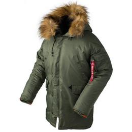 c53a5d7cd744 2018 lange pufferjacke männer 2018 Winter Männer Puffer Jacke Männer Lange  Kanada Mantel Militär Fell Kapuze