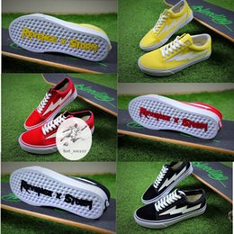 Wholesale Womens Sports Boots - (Have Box+Sock) Revenge X Storm Old Skool Canvas Men Shoes Men's Sneakers Skateboarding Sports Shoes Women Skate Shoes Womens Sport Boots