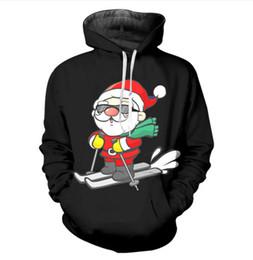 Argentina Nuevo estilo Harajuku con capucha hombre / mujer 3D esquí de Navidad y sol Sudaderas con capucha de Santa Claus sudaderas de manga larga hip hop tops P09 cheap ski sweatshirts Suministro