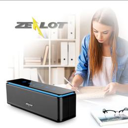 Zalot sem fio bluetooth speaker s7 portátil altavoces altoparlante painel de toque sd cartão de graves profundos 4driver estéreo 100000 mah bateria de
