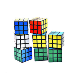 Wholesale plastic small - Puzzle cube Small size 3cm Mini Magic Rubik Cube Game Rubik Learning Educational Game Rubik Cube Good Gift Toy Decompression toys B