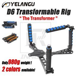 Wholesale Dslr Rig Stabilizer - YELANGU D6 Transformable Rig Foldable DSLR Movie Holder Shoulder Mount Stabilizer Kit For DV Film Video Camcorder 5D 6D 7D D800