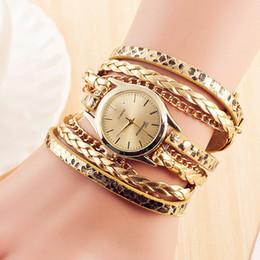 leather bracelet women wrist watches Australia - Women Bracelet Watch Relojes Mujer Vintage Braided Weave Wrap Quartz PU Leather Wrist Watches Casual Lady Gift Dress Watch Clock