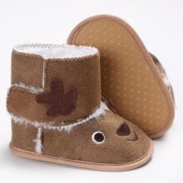 f8b0eab32d851 2017 De Noël Cerf Hiver Chaud Bottes De Neige Belle Bébé Fille Semelle  Souple chaussures Enfant En Bas Âge Premiers Marcheurs Coton Bas Chaussures