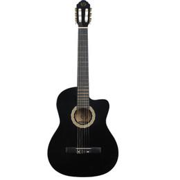 guitarras de prática Desconto Guitarra clássica 39 polegada chifres curtos madeira guitarra linden madeira iniciantes praticar guitarra clássica