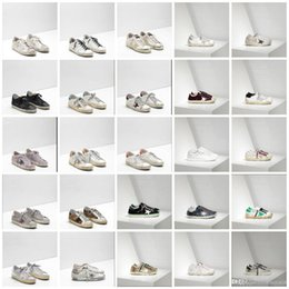 Wholesale Pink Goose - New 30 colour Italy Luxury superstar Handmade Do the old Golden Goose GGDB Leather fashion Villous dermis casual shoes for men and women