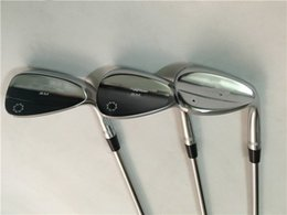 Wholesale 52 Degree Wedge - SM7 Wedges SM7 Golf Wedge Silver Golf Clubs 50 52 54 56 58 60 Degrees Steel Shaft With Head Cover
