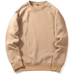 Wholesale Rich Prints - U.S Size Plain Crew Fleece Sweatshirt Couple Winter Sweatshirt Warm Mens Fleece Essentical Pullover Rich Fleece Winter Warm Tops