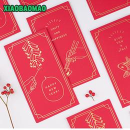 Sobre rojo año nuevo chino online-6 / lot moda creativa Año Nuevo Red Envelope Wedding Red Envelope Chino Año Nuevo Pocket Spring Festival