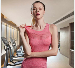 Wholesale Nylon Running Vest - Free Shipping High Quality Casual Slim Sexy Nylon Quick Dry Cloth Sports Yoga Fitness Running Women's Outdoor Sports Vest