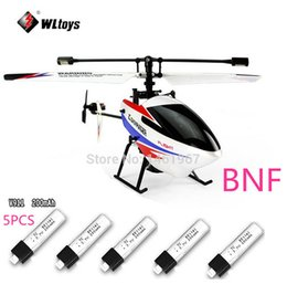 Wholesale V911 Rc - New Version WLtoys V911 pro V911 V2 2.4G 4CH RC Helicopter BNF(only body)+5 Pieces 200mah Batteries