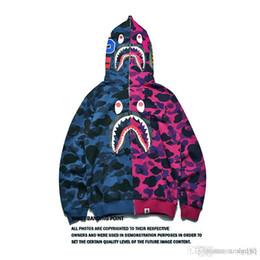 2019 камуфляж пиджака Мужчины Акула рот шить куртка камуфляж кардиган с длинным рукавом хип-хоп свободно толстовка новый стиль оптом скидка камуфляж пиджака