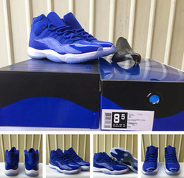 Wholesale medium sized star - 11s royal blue man and woman basketball shoes with originals box 11s sneakers size eur 36-47 free shipping wholesale