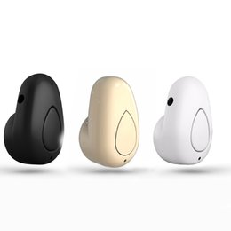 Wholesale Super Small Bluetooth Headset - S520 Mini Bluetooth Earphone Stereo Wireless Invisible small Headphones Super Headset Music handfree earphone With Reatail Box