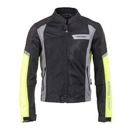 Wholesale Motorcycles Mans Racing Suits - New rock biker breathable Motorcycle jackets racing suits cycling jackets riding off-road jackets motorcycle clothing r-2