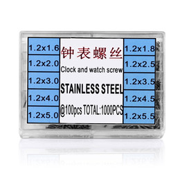 Wholesale eye glasses kit - 1000Pcs set Stainless Steel Tiny Assortment For Clock Watch Eye Glasses Screws Repair Kit Tool Watch for Parts