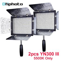 Wholesale Led Lights Video Yongnuo - 2pcs YONGNUO YN300 III 5500K LED Light On Camera Video Lighting for Wedding Photo Studio Video panel lamp YN300III with gifts