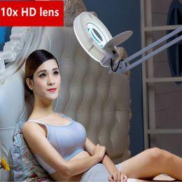Wholesale Glasses Tattoo - Factory wholesale10x New folding LDD floor lamp magnifying glass reading light Beauty tattoo professional lights Fill light