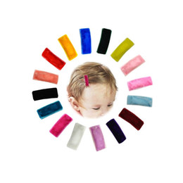 Broche de terciopelo online-Velvet Hair Snap Clip, Mini Hair Clips Set of 16Pcs