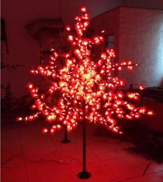 albero di acero di natale Sconti 672 LED 1,8 m di altezza LED Maple Tree LED luce dell'albero di Natale impermeabile 110 / 220VAC colore rosso / giallo uso esterno Spedizione gratuita