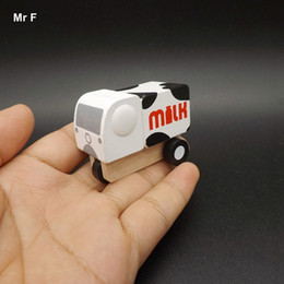 Wholesale Baby Tricycles - Exquisite Milk Transportation Small Wooden Tricycle Truck Model For Baby Kid Children Gift Learning Educational Teaching Prop Gadget