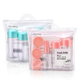conjunto de botellas de crema de plástico Rebajas 8 piezas / set de viaje portátil de belleza Set - Mini botella cosmética de crema Puntos claros Embotellado - Botellas de aerosol de contenedores de maquillaje vacío