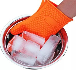 Wholesale Silicone Pot Holders Oven Mitts - Barbecue Silicone Heat Holder Gloves Kitchen Oven Mitts Cook Microwave Resistant Gloves Pot Holder Kitchen Tools 1000Pcs