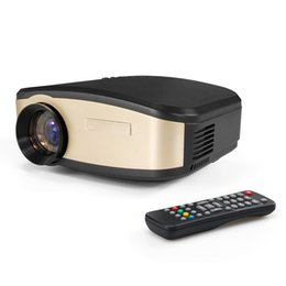 Wholesale Mhl Vga - Portable Mini Projectors 800x480 1080P Full HD 1800 lumens Projector Home Cinema Theater with HDMI USB VGA AV LCD LED Projector