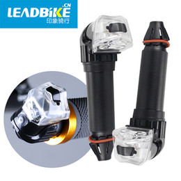 Wholesale cycle handlebar ends - LEADBIKE Bicycle Handlebar Led Lights Bike Handlebar End Plug LED Light Grips Safe Cycling Waterproof Warning Lamp