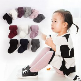 Wholesale Girls Black Lace Tights - Baby kids pantyhose spring new girls lace Bows dance stockings children love heart knitting leggings fashion children cotton bottoms R2274