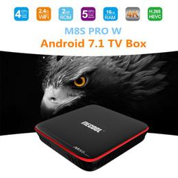 Новый M8S преимущества MECOOL про коробки TV Андроида сердечника квада S905W коробка 2 ГБ 16 ГБ Смарт-tv Андроид 7.1 поддержка STBemu Сталкер 4К беспроводной доступ в интернет от