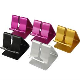 Porta-mesas de mesa universal on-line-Venda quente de liga de alumínio universal telefone celular montar mesa tablet desk desktop stand holder para iphone samsung