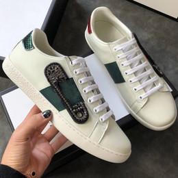 2019 scarpe bianche marrone piattaforma Alta qualità delle donne di moda in pelle bianca marrone posteriore scarpe piattaforma Designer piatta signora nero scarpe da ginnastica bianche per le donne35-42 scarpe bianche marrone piattaforma economici