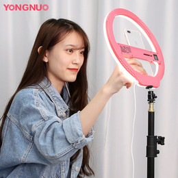 YONGNUO YN128 3200K-5500K Fotocamera Photo Studio Phone Video 128 LED Ring Light Photography Dimmerabile Lampada ad anello cheap yongnuo led da yongnuo ha portato fornitori